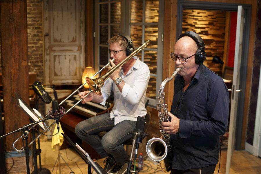 Nederland,Amsterdam, 2017 Paul de Munnik, studio Limmen, met Wouter Planteijdt Foto: Bob Bronshoff